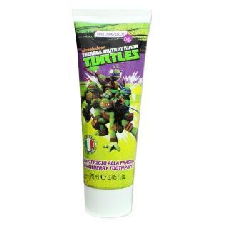 【義大利進口 Ninja Turtles】含氟牙膏(草莓香味-75ml)