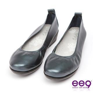 【ee9】ee9 芯滿益足-通勤私藏經典率性軟牛皮素面百搭跟鞋*藍色(跟鞋)