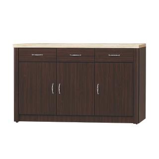 【Bernice】文斯4尺石面碗盤收納餐櫃(下座)