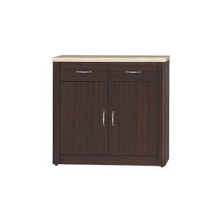 【Bernice】文斯2.7尺石面碗盤收納餐櫃(下座)