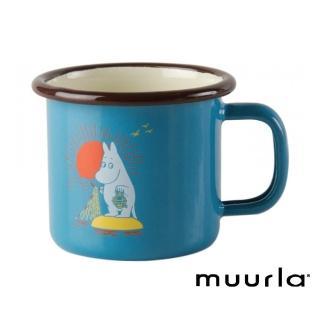 【芬蘭Muurla】嚕嚕米鄉村復古風 -濃縮咖啡琺瑯杯-150cc(muurla moomin 嚕嚕米 琺瑯杯 咖啡杯)