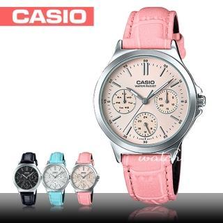 【CASIO 卡西歐】氣質首選_皮革錶帶_防水_礦物玻璃_女錶(LTP-V300L)