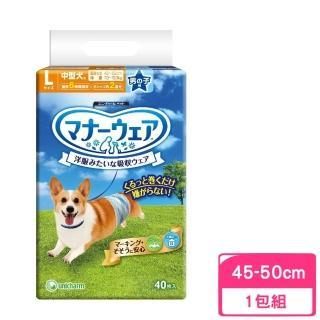 【Unicharm消臭大師】拋棄式禮貌帶 中型犬用(40枚入)
