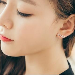 【梨花HaNA】韓國just me 草寫情書S925銀耳環