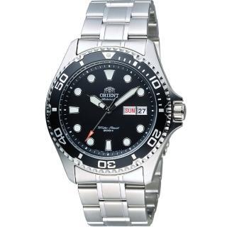 【ORIENT】東方錶 WATER RESISTANT系列 200m潛水機械錶(FAA02004B 黑)