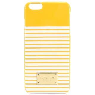 【MICHAEL KORS】方牌飾雙色條紋I Phone6/s 手機殼(黃白)