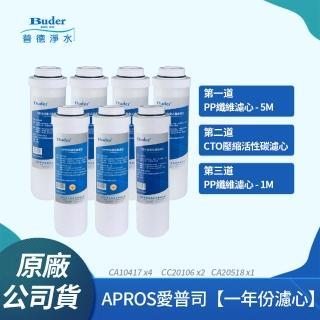 【普德Buder】APROS系列 5M CA10417 + UDF CC20106 + 1M CA20518 拋棄式纖維濾心(7支組)