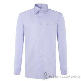 【ROBERTA諾貝達】台灣製 嚴選穿搭 簡約條紋長袖襯衫(淺紫)