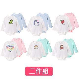 【baby童衣】包屁衣 純棉長袖環保墨水印花 兩件組 61161(共6色)
