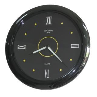 【DeeDa鐘情坊-W82046】特色時尚時鐘(亮黑色外框 夜光鋁製針組)