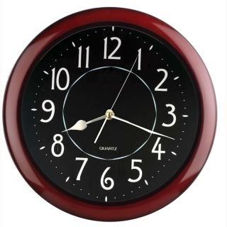 【DeeDa鐘情坊-W82080-1】簡約時尚時鐘(紅木色框)
