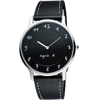 【agnes b.】法國時尚藝術腕錶-黑/39mm(VJ20-K240Z  BJ5005X1)