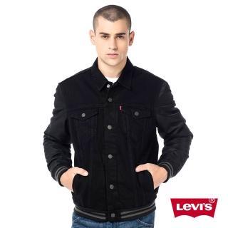【Levis】男款丹寧牛仔夾克外套 Thermo內裡 拼接 黑色