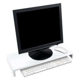 【YADI】空間大師鋼鐵液晶鍵盤收納架(白)