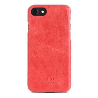 【alto】iPhone 7 真皮手機殼背蓋 Original - 珊瑚紅(alto  義大利真皮皮革)