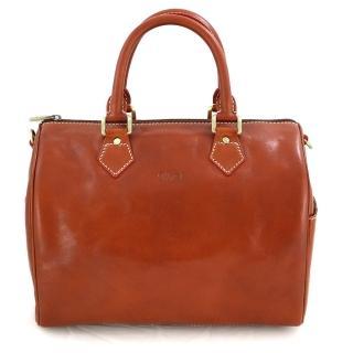【Sika】義式時尚真皮復古枕頭包(M6010A–01原味褐)
