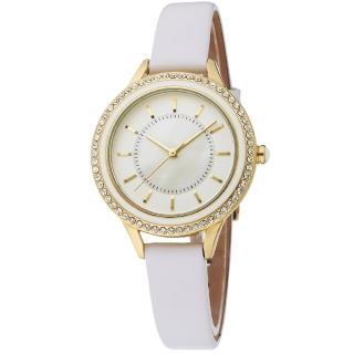 【MANGO】閃耀時光晶鑽時尚腕錶(白/34mm)