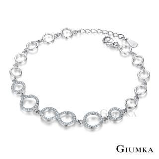 【GIUMKA】純銀手鍊 無限愛戀 925純銀 MHS06014(銀色)