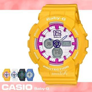 【CASIO卡西歐BABY-G系列】繽紛運動系列_LED照明_鏡面4.3cm_學生錶_精緻女錶(BA-120)
