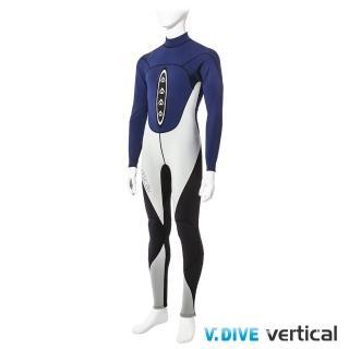 【V.DIVE 威帶夫】競技系列 男版高彈超薄潛水服(深藍)