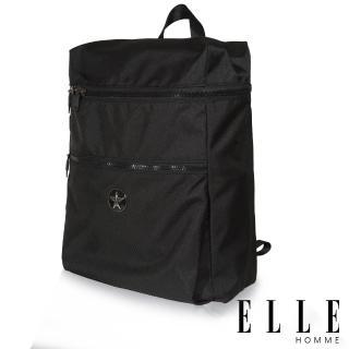 【ELLE HOMME】巴黎風輕旅商務大容量機能後背包(黑 EL83893-02)