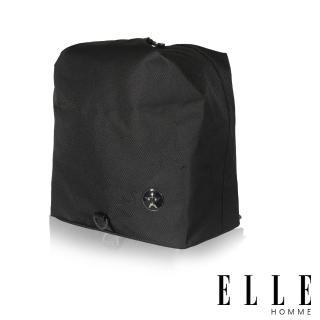 【ELLE HOMME】巴黎風輕旅商務休閒多功能斜/肩背包(黑 EL83896-02)