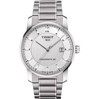 【TISSOT】TISSOT T-Classic 鈦機械腕錶(T0874074403700)