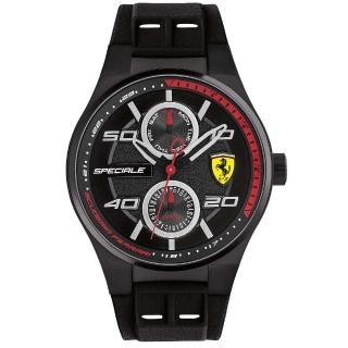 【FERRARI 法拉利】紅鑽狂熱飆速運動計時腕錶(0830356)