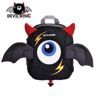 【韓國 Devil Wing】小惡魔翅膀幼兒防走失背包-書包(黑)
