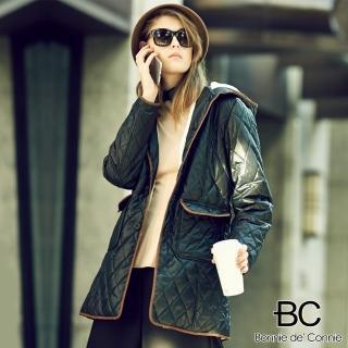 【法國BC】巴黎精品法式修身菱格短大衣(2色任選)