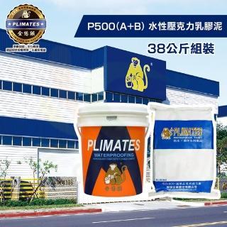 【金絲猴】《中塗》水性壓克力乳膠彈性水泥P-500 A劑+B劑(38公斤組裝)