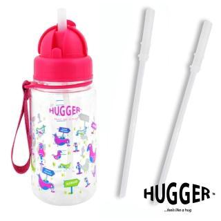 【英國Hugger】Tritan彈跳吸管水壺-搭贈吸管2入(歡樂鳥)