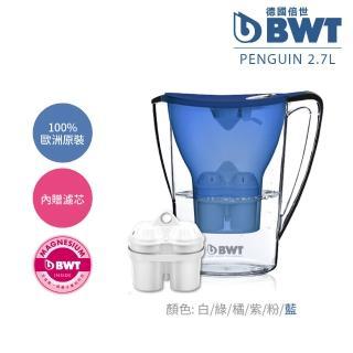 【BWT德國倍世】Mg2+鎂離子健康濾水壺2.7L–藍(內含濾芯*1)