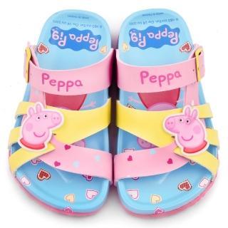 【童鞋城堡】粉紅豬小妹 佩佩豬 中童 甜美可愛軟木風格拖鞋(PG0017-粉)