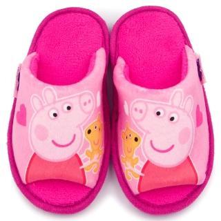 【童鞋城堡】粉紅豬小妹 佩佩豬 中童 保暖絨毛拖(PG0045-粉)