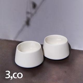 【3 co】水波提樑小杯-白(2件式)