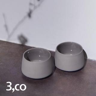 【3 co】水波提樑小杯-灰(2件式)