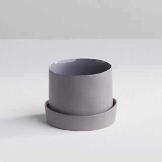 【3 co】水波蓋杯 - 灰(2件式)