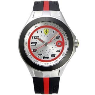 【法拉利 Scuderia Ferrari】鋼鐵競速賽車日期運動腕錶(44mm/FA0830021)