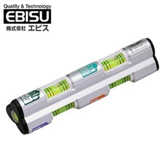 【日本EBISU】排水流向水平儀 3管多泡 ED-MSL