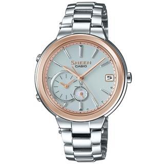 【CASIO 卡西歐】SHEEN 藍牙技術的智慧型腕錶(35mm/ SHB-200SG-7A)
