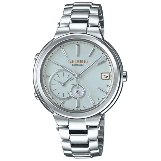 【CASIO 卡西歐】SHEEN 藍牙技術的智慧型腕錶(34.9mm/SHB-200D-7A)