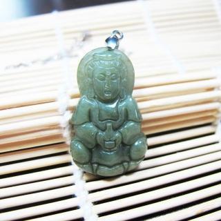 【Hera】頂級天然翡翠油青種慈悲觀音項鍊