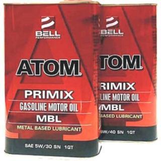 【美國貝爾BELL】ATOM MBL MOTOR OIL(特效護缸機油 5W30 SN 4入一組)