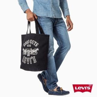 【Levis】男款托特包 / 黑色 / 雙馬 / 復古- Levis