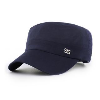 【活力揚邑】防曬涼感速乾吸濕排汗潮流軍帽平頂帽-時尚藍