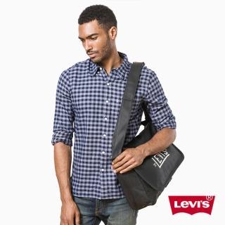 【Levis】男款側背包 / 復古 / 彷舊Logo / 黑色