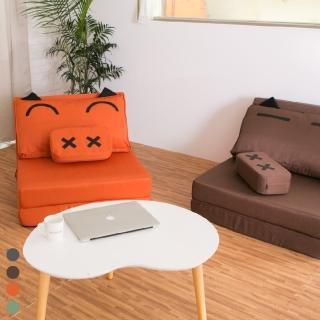 【BNS居家生活館】Cute Piggy 慵懶造型豬沙發床 獨立筒升級款(單人沙發/沙發床/獨立筒床墊)