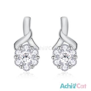 【AchiCat】925純銀耳環 花語呢喃 純銀耳針 GS6038