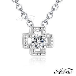 【AchiCat】925純銀項鍊 幸運人生 十字架 鎖骨鍊 CS6045